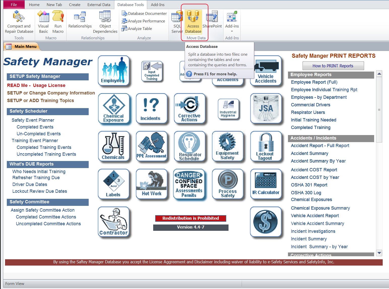 Safety Manager- How to export to a  csv file - SafetyInfo